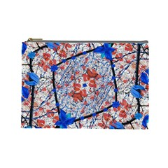 Floral Pattern Digital Collage Cosmetic Bag (large) by dflcprints