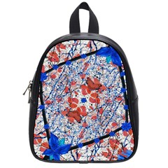 Floral Pattern Digital Collage School Bag (small) by dflcprints