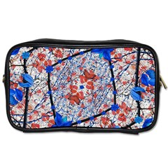 Floral Pattern Digital Collage Travel Toiletry Bag (one Side) by dflcprints