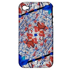 Floral Pattern Digital Collage Apple Iphone 4/4s Hardshell Case (pc+silicone) by dflcprints