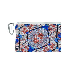 Floral Pattern Digital Collage Canvas Cosmetic Bag (small) by dflcprints