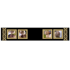 Black And Gold Flano Scarf (large) By Deborah   Flano Scarf (large)   Ggsr7es2kqf4   Www Artscow Com Back