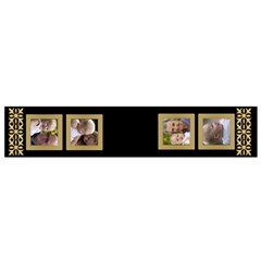 Balck And Gold Flano Scarf (small) By Deborah   Flano Scarf (small)   He0dp1zvr5z7   Www Artscow Com Back