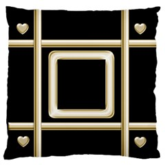 Black And Gold 2 Large Flano Cushion Case By Deborah   Large Flano Cushion Case (two Sides)   A7mdapdknoai   Www Artscow Com Front