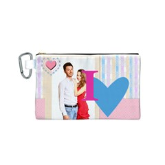 Love By Ki Ki   Canvas Cosmetic Bag (small)   Ao4j8t3vnpzq   Www Artscow Com Front