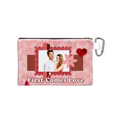 Love By Ki Ki   Canvas Cosmetic Bag (small)   D649s6zh2nri   Www Artscow Com Back