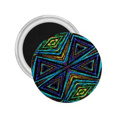 Tribal Style Colorful Geometric Pattern 2 25  Button Magnet by dflcprints