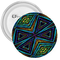 Tribal Style Colorful Geometric Pattern 3  Button by dflcprints