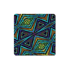 Tribal Style Colorful Geometric Pattern Magnet (square) by dflcprints