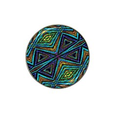 Tribal Style Colorful Geometric Pattern Golf Ball Marker (for Hat Clip) by dflcprints