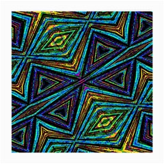 Tribal Style Colorful Geometric Pattern Glasses Cloth (medium, Two Sided) by dflcprints
