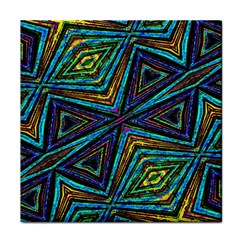 Tribal Style Colorful Geometric Pattern Face Towel by dflcprints
