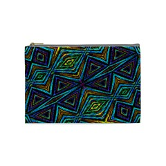 Tribal Style Colorful Geometric Pattern Cosmetic Bag (medium) by dflcprints