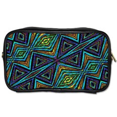 Tribal Style Colorful Geometric Pattern Travel Toiletry Bag (one Side) by dflcprints