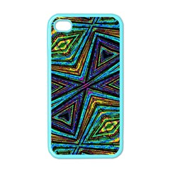 Tribal Style Colorful Geometric Pattern Apple Iphone 4 Case (color) by dflcprints