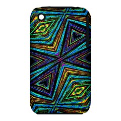 Tribal Style Colorful Geometric Pattern Apple Iphone 3g/3gs Hardshell Case (pc+silicone) by dflcprints