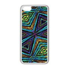 Tribal Style Colorful Geometric Pattern Apple Iphone 5c Seamless Case (white) by dflcprints