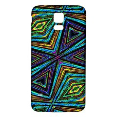 Tribal Style Colorful Geometric Pattern Samsung Galaxy S5 Back Case (white) by dflcprints