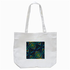Tribal Style Colorful Geometric Pattern Tote Bag (white) by dflcprints