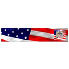 American Flag Flano Scarf (small) By Kim Blair   Flano Scarf (small)   E679dae0af7j   Www Artscow Com Front
