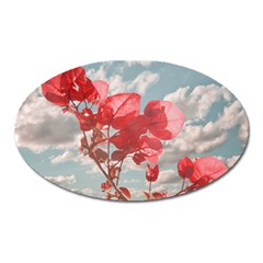 Flowers In The Sky Magnet (oval) by dflcprints