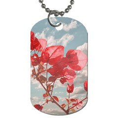 Flowers In The Sky Dog Tag (two Sided)  by dflcprints