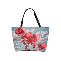 Flowers In The Sky Large Shoulder Bag by dflcprints