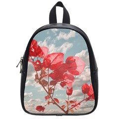 Flowers In The Sky School Bag (small) by dflcprints