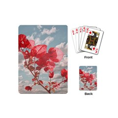 Flowers In The Sky Playing Cards (mini) by dflcprints