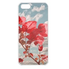 Flowers In The Sky Apple Iphone 5 Seamless Case (white) by dflcprints
