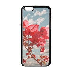 Flowers In The Sky Apple Iphone 6 Black Enamel Case by dflcprints