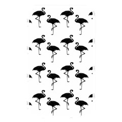 Flamingo Pattern Black On White Memory Card Reader (rectangular) by CrypticFragmentsColors