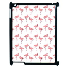 Pink Flamingo Pattern Apple Ipad 2 Case (black) by CrypticFragmentsColors