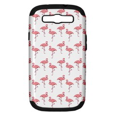 Pink Flamingo Pattern Samsung Galaxy S Iii Hardshell Case (pc+silicone) by CrypticFragmentsColors