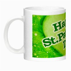 Unique Happy St  Patrick s Day Design Glow In The Dark Mug by dflcprints