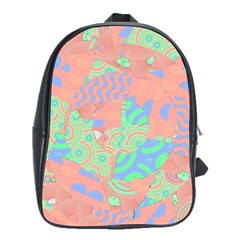 Tropical Summer Fruit Salad School Bag (large) by CrypticFragmentsColors