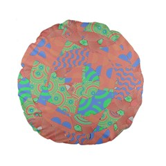 Tropical Summer Fruit Salad Standard 15  Premium Flano Round Cushion  by CrypticFragmentsColors
