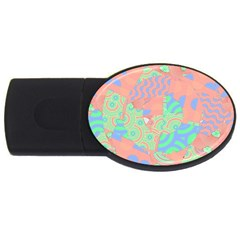 Tropical Summer Fruit Salad Usb Flash Drive Oval (4 Gb) by CrypticFragmentsColors