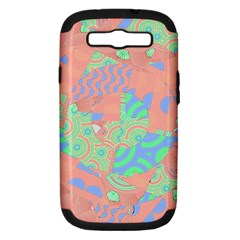 Tropical Summer Fruit Salad Samsung Galaxy S Iii Hardshell Case (pc+silicone) by CrypticFragmentsColors