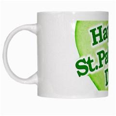 Happy St Patricks Day Design White Coffee Mug by dflcprints