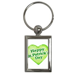 Happy St Patricks Day Design Key Chain (rectangle) by dflcprints