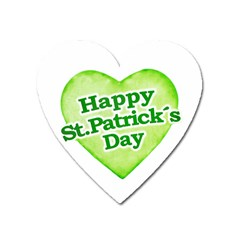 Happy St Patricks Day Design Magnet (heart) by dflcprints