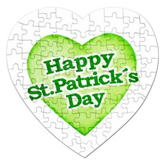 Happy St Patricks Day Design Jigsaw Puzzle (heart) by dflcprints