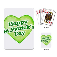 Happy St Patricks Day Design Playing Cards Single Design by dflcprints