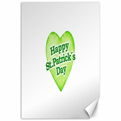 Happy St Patricks Day Design Canvas 24  X 36  (unframed) by dflcprints