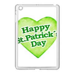 Happy St Patricks Day Design Apple iPad Mini Case (White) by dflcprints