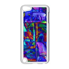 Neon Purple Blue Pink Apple iPod Touch 5 Case (White)