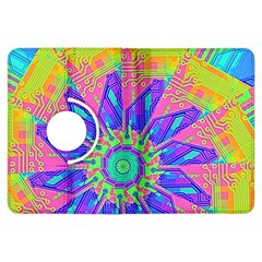 Neon Flower Purple Hot Pink Orange Kindle Fire Hdx Flip 360 Case by CrypticFragmentsColors