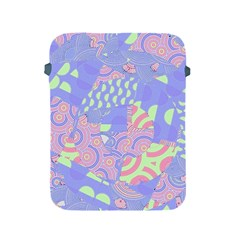 Girls Bright Pastel Abstract Blue Pink Green Apple Ipad 2/3/4 Protective Soft Case by CrypticFragmentsColors