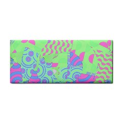 Tropical Neon Green Purple Blue Hand Towel by CrypticFragmentsColors
